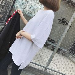 A7 SEVEN - Loose Fit Elbow-Sleeve T-Shirt