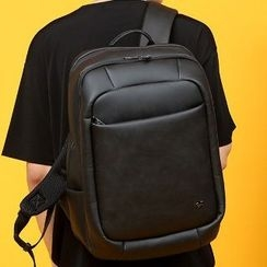 Asphalt - Faux-Leather Backpack