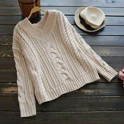 YOYO - 麻花针织毛衣
