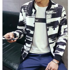 Fisen - Printed Baseball Jacket