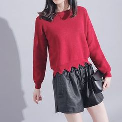 Sonne - Wave-Hem Knit Top