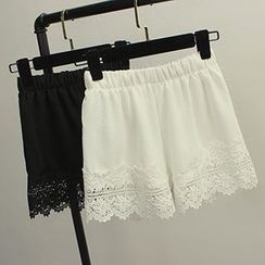 Honey House - Lace Trim Chiffon Under Shorts