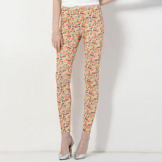 YesStyle Z - Floral Print Leggings