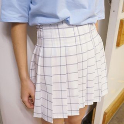 HotBlock - Plaid Pleated Mini Skirt