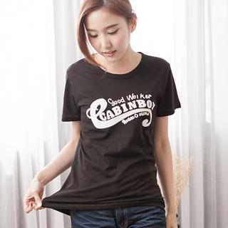 RingBear - Letter-Print T-Shirt