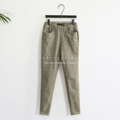 NANING9 - Elastic-Waist Skinny Pants