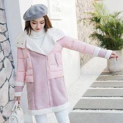 Romantica - Paneled Padded Zip Coat