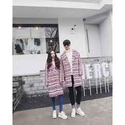 AJIEJIA - Couple Matching Patterned Coat