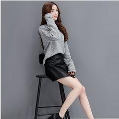 Romantica - Set: Tie-Back Sweater + A-Line Skirt