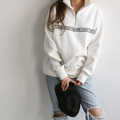 NANING9 - Lettering Anorak Pullover