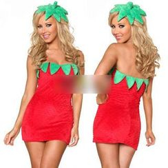 Cosgirl - Strawberry Party Costume