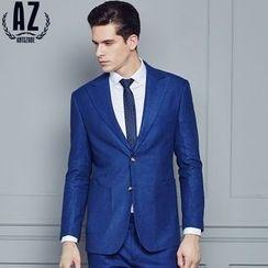 Antszone - Peaked-Lapel Buttoned Blazer