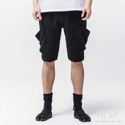 Ashen - Linen Baggy Shorts