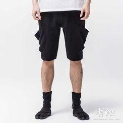 Ashen - 中国风棉麻短裤