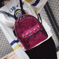 Youshine - Studded Velvet Mini Backpack
