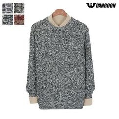 DANGOON - Crew-Neck Mélange Cable-Knit Sweater