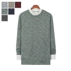 DANGOON - Crew-Neck Mélange Sweater