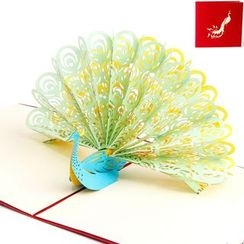 ByHeart - Peacock 3D Greeting Card