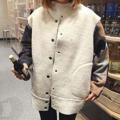 Cloud Nine - Fleece Color Block Baseball Jacket