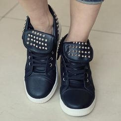 REDOPIN - Metal-Studded High-Top Sneakers