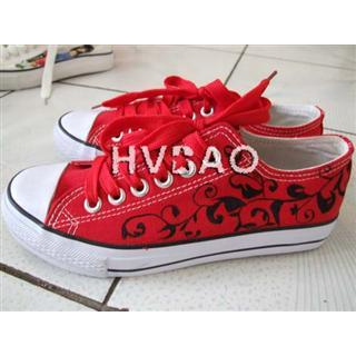 HVBAO - Flowering Vine Canvas Sneakers