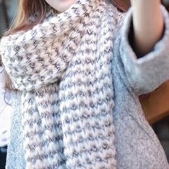 Rita Zita - 混色针织围巾