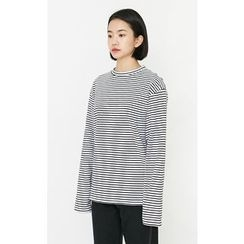 Someday, if - Crew-Neck Striped T-Shirt