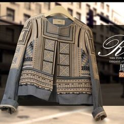 Ashlee - Print Denim Jacket