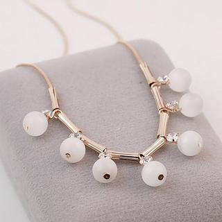 Love Generation - Rhinestone Beaded Necklace