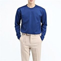 THE COVER - Colored Round-Neck Long-Sleeve T-Shirt