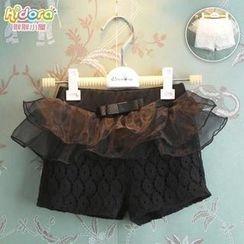 Kidora - Kids Ruffle Lace Shorts