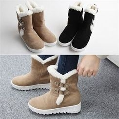 Reneve - Buckled Short Snow Boots