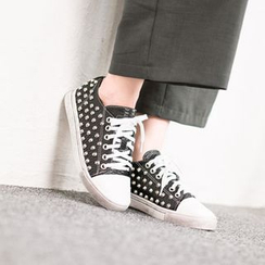 VIVIER - Studded-Detail Lace-Up Sneakers