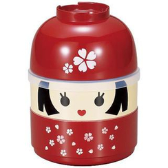 Hakoya - Hakoya Kokeshi 2 Layers Lunch Box Hanako