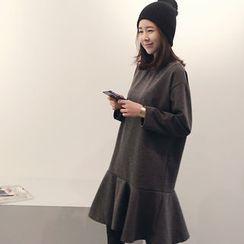 NANING9 - A-Line Ruffle-Hem Dress
