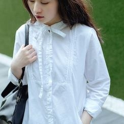 Forest Girl - Bow Neck Blouse