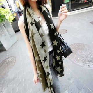 Cuteberry - Star-Print Scarf