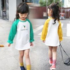 Merry Go Round - Kids Raglan T-Shirt Dress