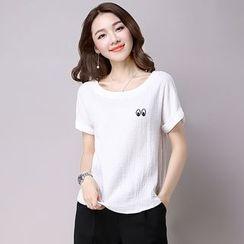 Diosa - Eyes Print Short Sleeve T-Shirt