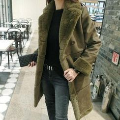 Lavogo - Faux Suede Wool Coat