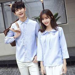 尚雅姿 - 情侶款純色襯衫 / 襯衫