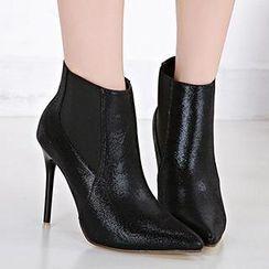Mancienne - Faux-Leather Shoe Boots