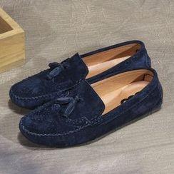 Armsal - Genuine-Leather Tasseled Loafers