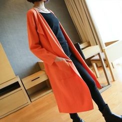 YIDIYU - Plain Long Cardigan