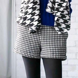 Tokyo Fashion - Houndstooth Cuffed Shorts