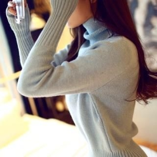 chuu - Turtle-Neck Knit Dress