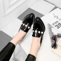 錦洋鞋業 - 仿珍珠漆皮樂福鞋
