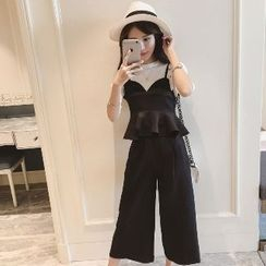 Romantica - 套装: 荷叶边上衣 + 长裤