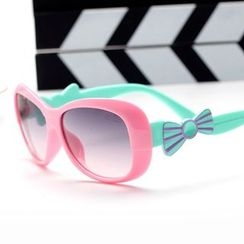 OJOS - Kids Bow-Accent Color-Block Sunglasses