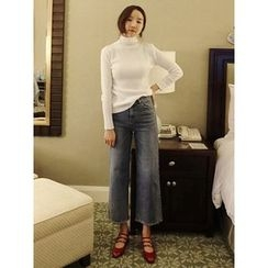 maybe-baby - Washed Wide-Leg Jeans